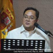 Mel Velarde Speech at International Conference on Cartography in Philippine History, May 23, 2018