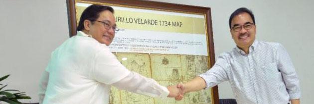 NAMRIA gets official replica of 1734 Murillo-Velarde Map