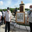 "PHLPost presents commemorative frame of historic'Murillo Velarde Circa 1734 Map"" stamps To President Duterte"